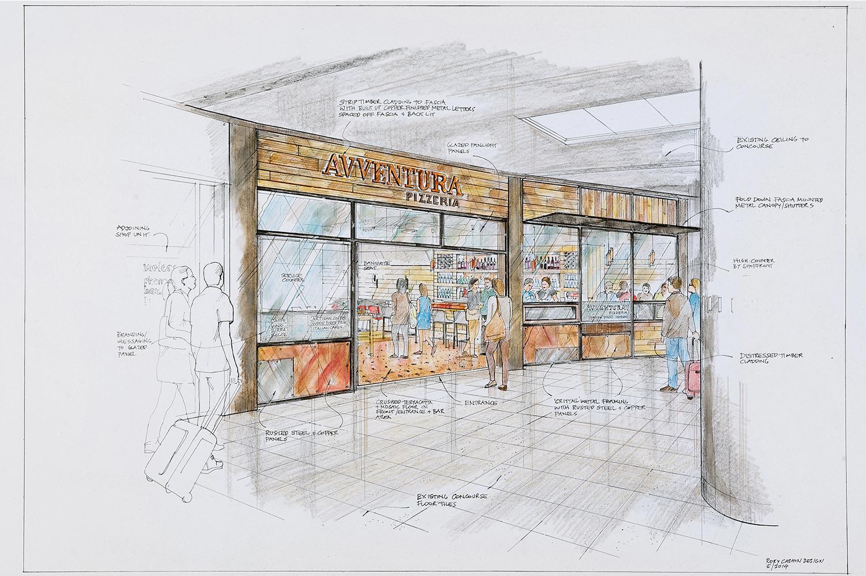 Italian Pizza Café Concept